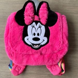 Girls Pink Minnie Mouse Backpack